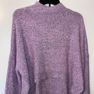Wild Fable Lavender Crop Top Sweater - Medium